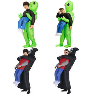 Alien Inflatable Monster Costume Adults Kids Halloween Party Fancy Dress Devil