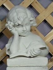 Classic Victorian Reading Library Girl With Book Latex Fiberglass Mold Concrete