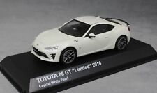 TOYOTA 86 GT LIMITED 2016 CRYSTAL WHITE PEARL KYOSHO 03895CW 1/43 WEISS bianca
