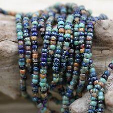8/0 Blue Lagoon Picasso Mega Mix Miyuki seed bead, 20 grams, ocean Picasso beads