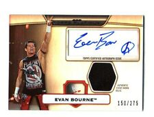 WWE Evan Bourne Topps Platinum 2010 Autographed Relic Card SN 150 of 275