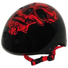 BEST Sporting Skate/Skateboard Red Skull on Black Helmet - Large 57-60cm  EN1078