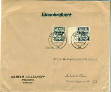 Allemagne Germany Reich 1939 Hambourg lettre cover brief Vienne Austria Danzig