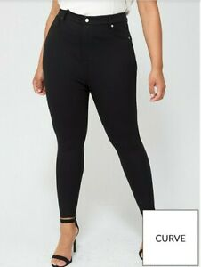 V by Very Curve Power Stretch Sculpting High Waist Trousers  - Black Size 16