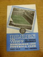 14/04/1959 Birmingham City v Arsenal  (folded, creased). Thanks for viewing our