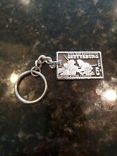 New listing Gettysburg Virginia Civil War Pewter Stamp Paperweight Centennial Keychain Nice