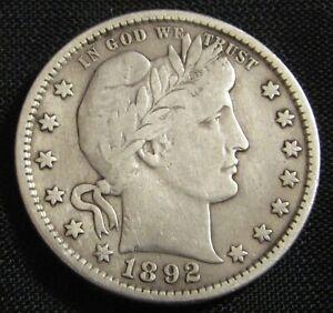 1892-S 10C Barber Liberty Head Quarter  AN9