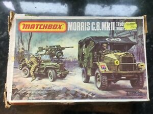 Matchbox Morris C8 Mk.II 17 pounder & willys jeep in 1/76 scale