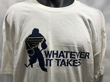 St Louis BLUES Hockey NHL Whatever It Takes T-Shirt Size XL