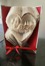 Folded Book Art Heart With arrow and  Love Inside. Cupids arrow Valentine's gift