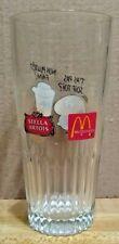 Vintage McDonald's Stella Artois Beer Glass T'as Pas Soif Toi? Non Plutot Faim!
