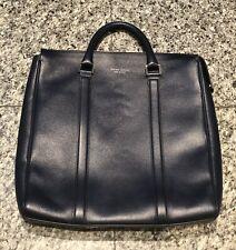 HUGO BOSS Navy Blue Leather Document Portfolio Laptop Briefcase Bag