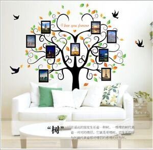 Removable Vinyl Wall Decal Family Photo picture frame tree Sticker DIY Decor