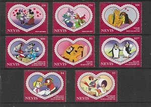 HICK GIRL- MINT NEVIS STAMPS    DISNEY    LOVE IS IN THE AIR       T269
