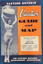 CANADA Eastern Ontario (circa 1950's) 16-section fold-open brochure/map