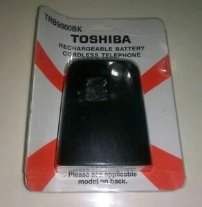 Toshiba Rechargeable Battery Cordless Phone Model TRB9000BK New