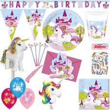 Einhorn Kindergeburtstag Party Set Deko Pferd rosa Mädchen Geburtstag Dekoration