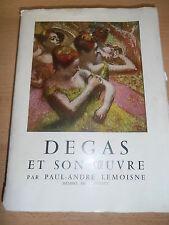 LIVRE DEGAS ET SON OEUVRE PAR PAUL ANDRE LEMOISNE 1954 ( ref 51 )