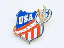 Men's Usa Gymnastics Lapel Pin - Patriotic New Design
