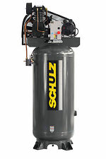 SCHULZ AIR COMPRESSOR 5HP SINGLE PHASE 80 GALLON TANK - 20CFM - 175 PSI