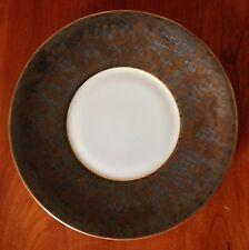 JAUNE DE CHROME Porcelain AGUIRRE GOLD dessert plate - retails for $146 - NWT!!