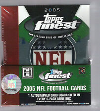2005 TOPPS FINEST FOOTBALL HOBBY BOX AARON RODGERS ROOKIE