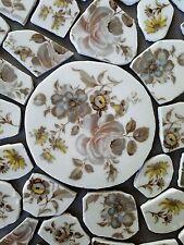 """Vintage Winterling-Bavaria """"Empress"""" Taupe Floral Focals + Mosaic Tiles"""