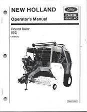New Holland 852 Round Baler Operator Manual 42085212
