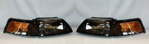 Right and Left Side Replacement Headlight PAIR For 2001-2004 Ford Mustang