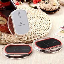 Trasparente QI Wireless Caricabatterie Veloce Carica Tampone Per Galaxy Nota 5