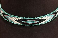 NATIVE DESIGN Handmade Beaded Hatband HAT BAND GENUINE TURQUOISE NUGGET STERLING