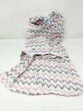 Halo SleepSack Swaddle NB Newborn Sleeping Bag White Pink Chevron Stripes