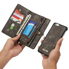 Leather Removable Wallet Magnetic Flip Card Case Cover for iPhone 7 & 6/6S Plus