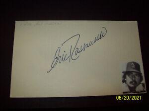 Eric Rasmussen signed 3x5