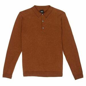Mens Burton Long Sleeve Knitted Polo Shirt Jumper Top Sizes XS - 3XL B153