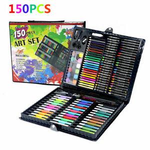 150pc color Drawing Pen Set Painting Pen Pencil Pastels for Kids Xmas Toys Art