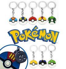 Personalise Pokemon Pokeball Keyring Pikachu Key Chain Merch Gift Party Bag Kids