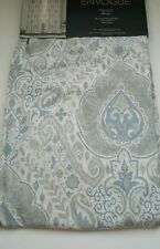 2 ENVOGUE Paisley Medallion Window Curtains Drapes Panels 96 Taupe Silver Blue n