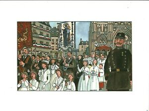 Fac-similé d'aquarelle de J. Bruneau Nantes du bon vieux temps planche no 15