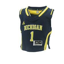 Michigan Wolverines Official NCAA Adidas Baby Infant Size Basketball Jersey New