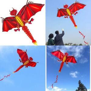 Hengda Kite-New Ice And Fiery Dragon Kite-Easy To Fly-52Inch X 63Inch Single Lin