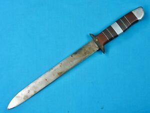 US WW2 Vintage Old Custom Handmade Large Theater Fighting Knife