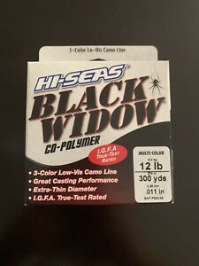 Hi-Seas Black Widow Line 300 yd. Spool