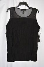 5cf42deee6 Inc International Concepts Womens Tank Top Shirt Blouse Plus Sz 1x Black