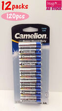 12x Pack of 10pcs Camelion AA Batteries Super Heavy Duty 1.5V Long Life Bulk