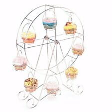 Ferris Wheel Cupcake Holder Carnival Decorations Metal Dessert Serving Tray 8 PC