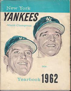 Vintage 1962 New York Yankees Yearbook