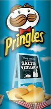 PRINGLES SALT & VINEGAR POTATO CHIPS 156gr FREE SHIPPING