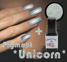 Unicorn Holographic Pigment/Powder Chrom/Spiegel Effekt + Perfekt Top Gloss 12ml