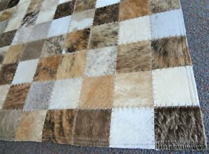 """COURISTAN CHALET INDIA HAND CRAFTED AREA RUG. BROWN & GRAY. SIZE: 5'4"""" x 8'"""